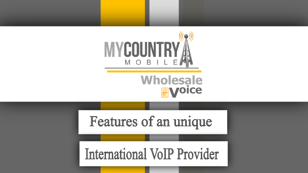Features of an unique International VoIP Provider - My Country Mobile