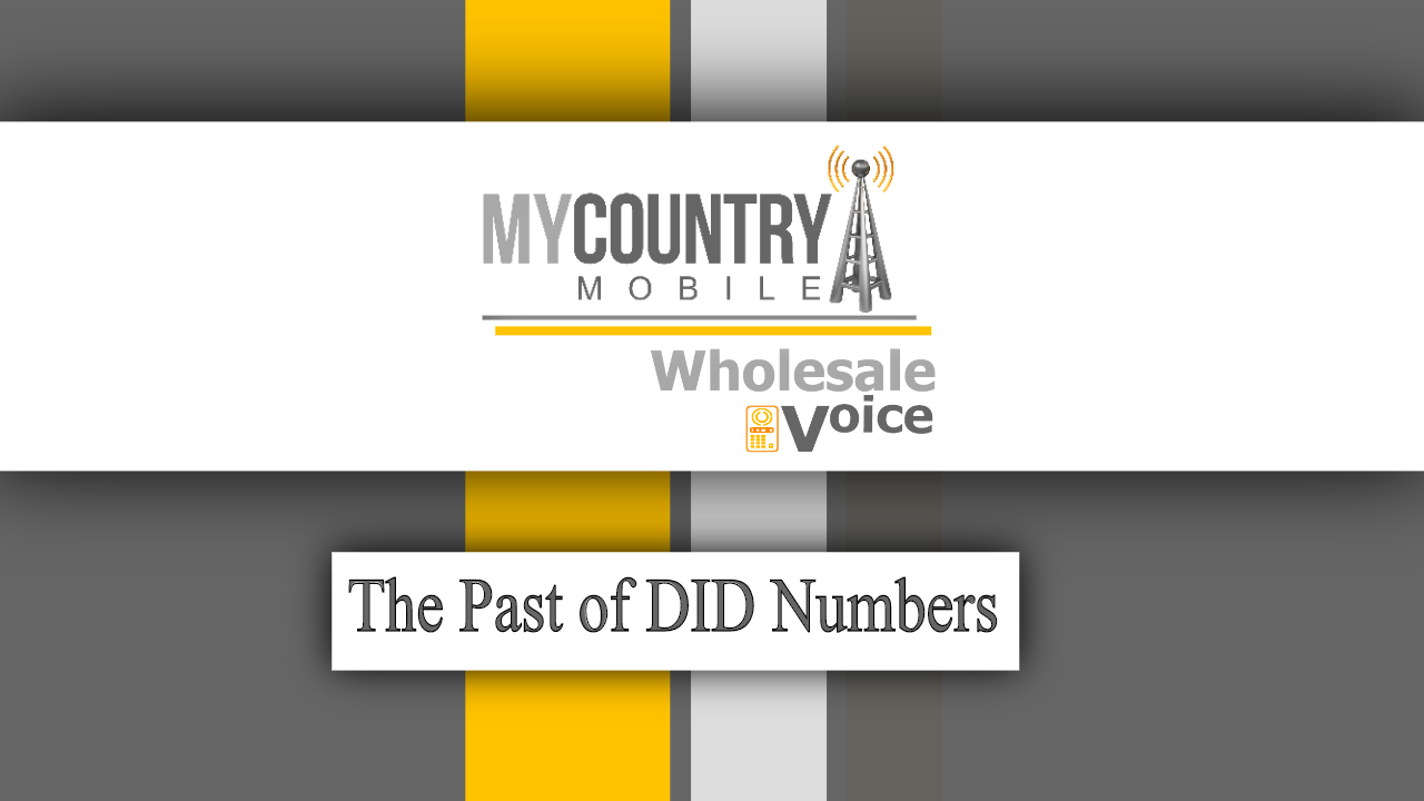 The Past of DID Numbers - My Country Mobile